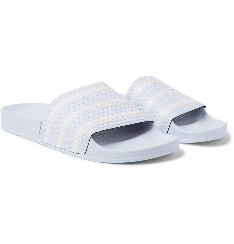 adidas Originals - Adilette Textured-Rubber Slides - Men - Sky blue