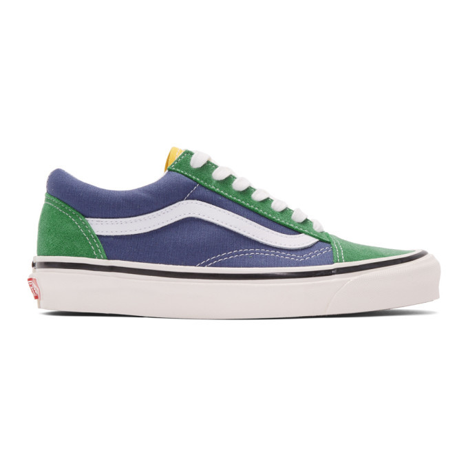 Photo: Vans Green and Blue Anaheim Factory Old Skool 36 DX Sneakers
