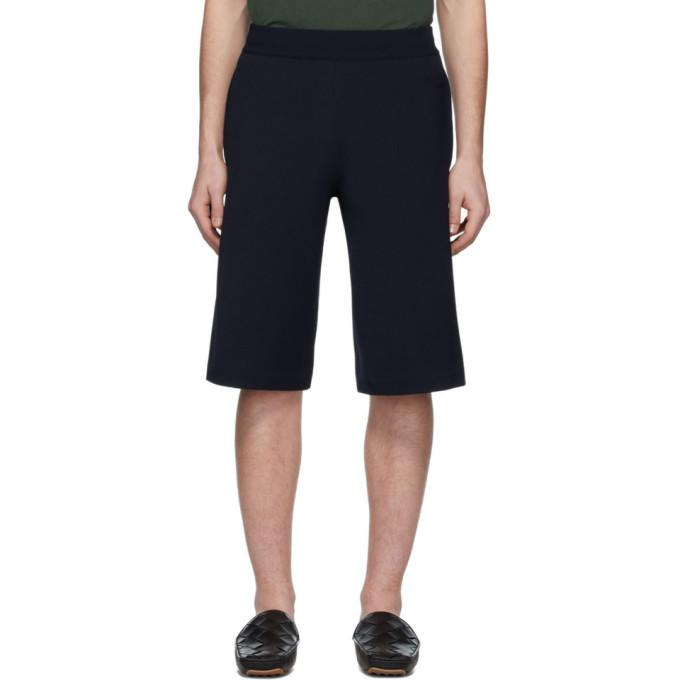 Photo: Bottega Veneta Navy Wide Shorts