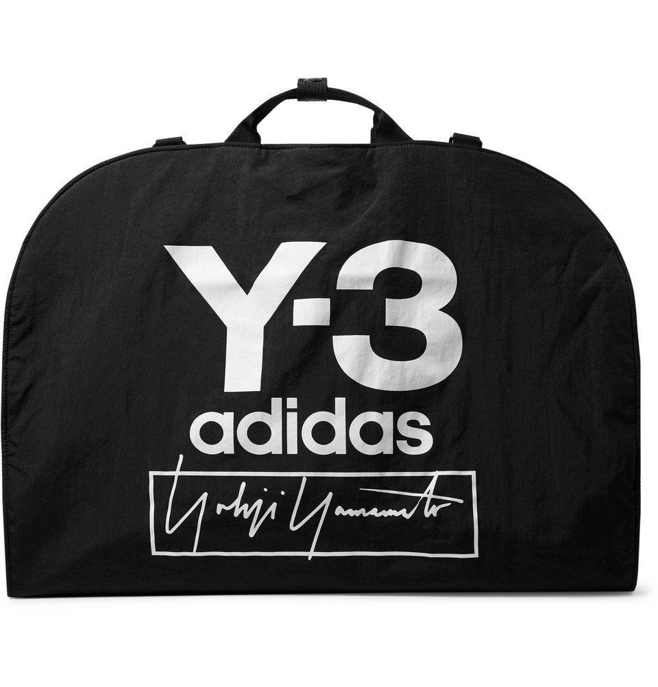 Photo: Y-3 - Logo-Print Shell Garment Bag - Black