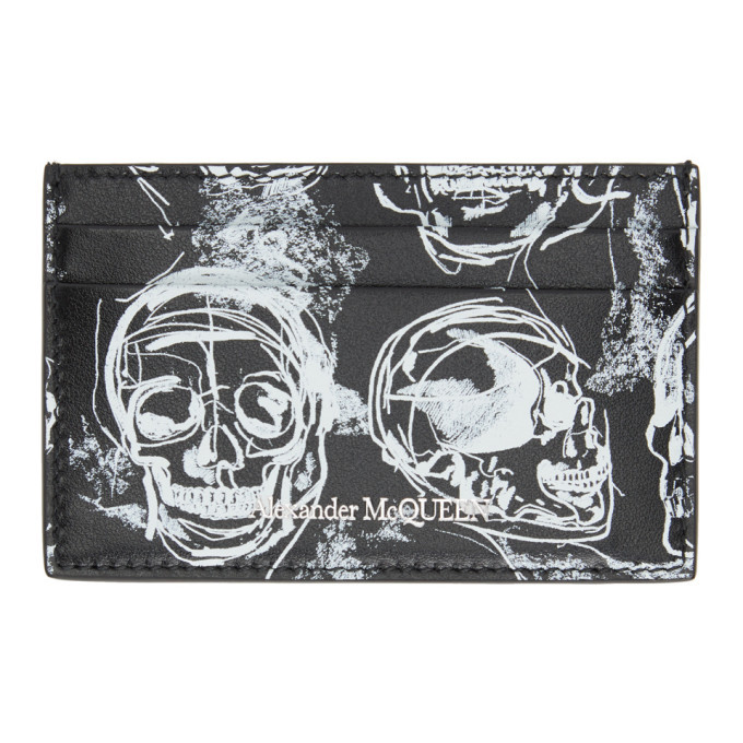 Photo: Alexander McQueen Black and White Painted Skull Card Holder