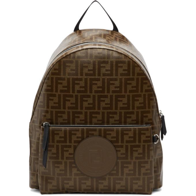 Photo: Fendi Brown and Black Forever Fendi Backpack
