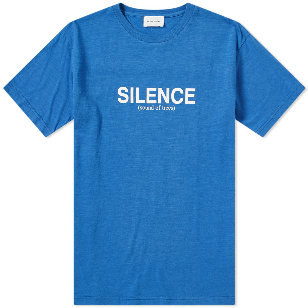 Photo: Wood Wood Perry Silence Slub Tee Blue