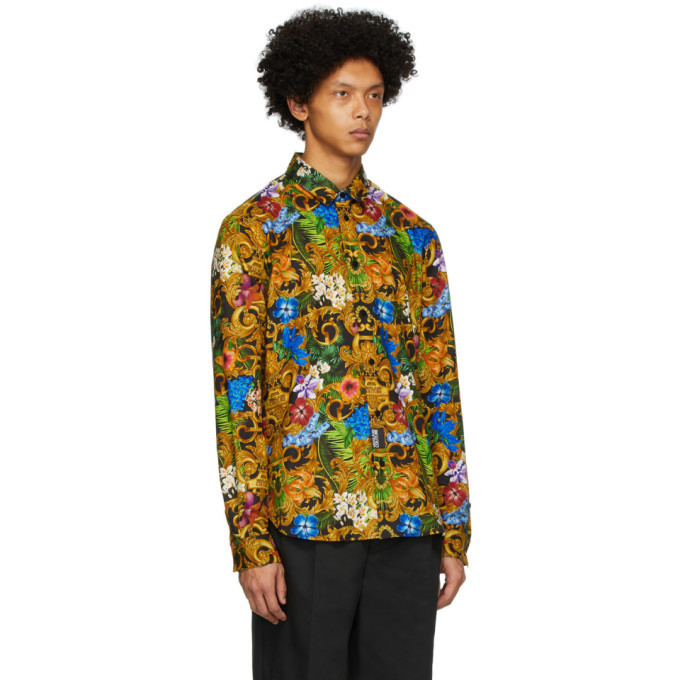 Versace Jeans Couture Multicolor Tropical Baroque Shirt