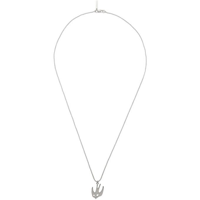 Photo: McQ Alexander McQueen Silver Ball Chain Swallow Necklace
