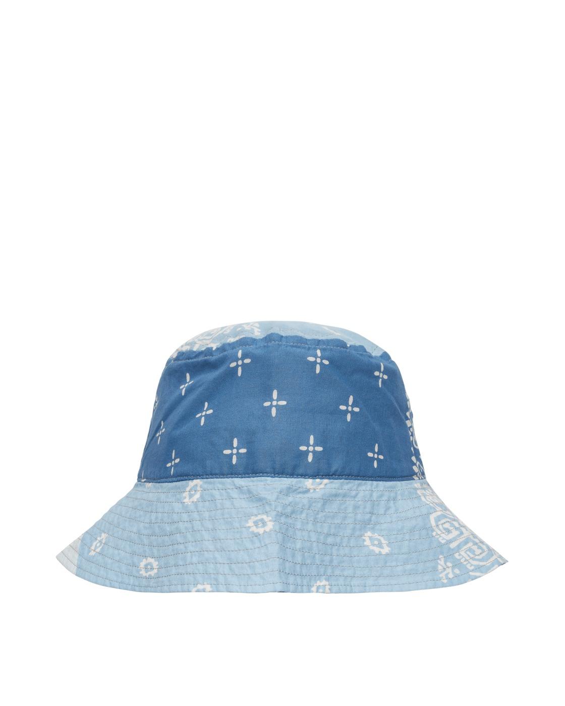 Kapital Bandana Patchwork Bucket Hat Sax