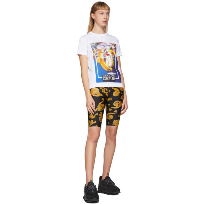 Versace Jeans Couture White Banana and Drinks T-Shirt