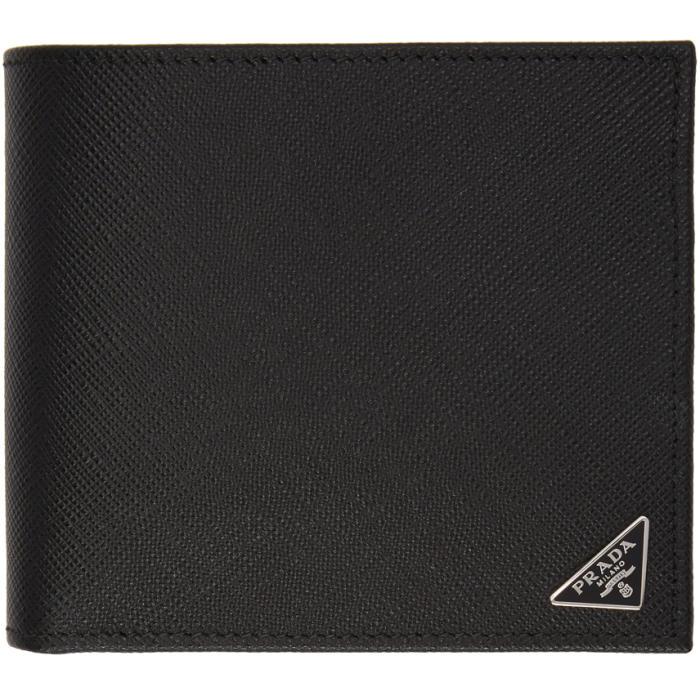 Photo: Prada Black Saffiano Logo Wallet