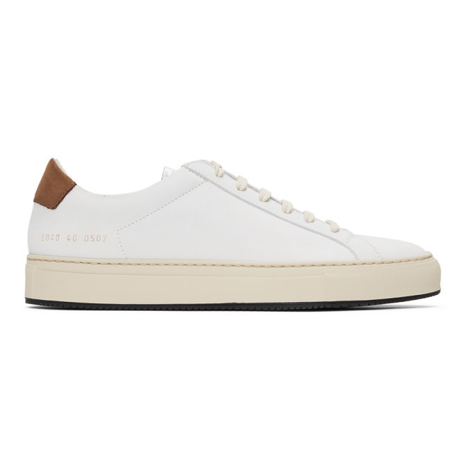 Photo: Common Projects White Retro Low Special Edition Sneakers