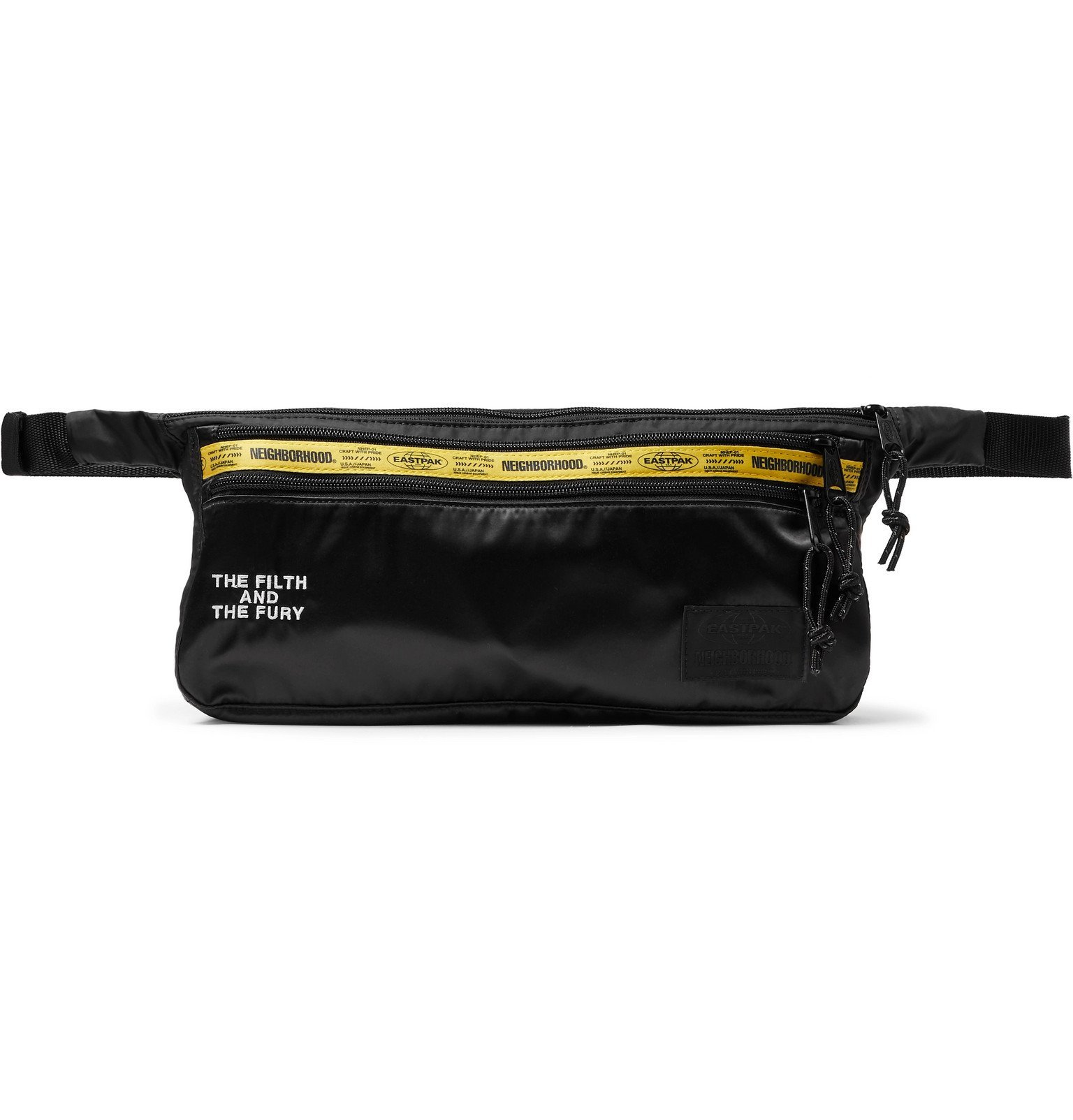 Photo: Neighborhood - Eastpak Logo-Detailed Satin and Nylon Belt Bag - Black
