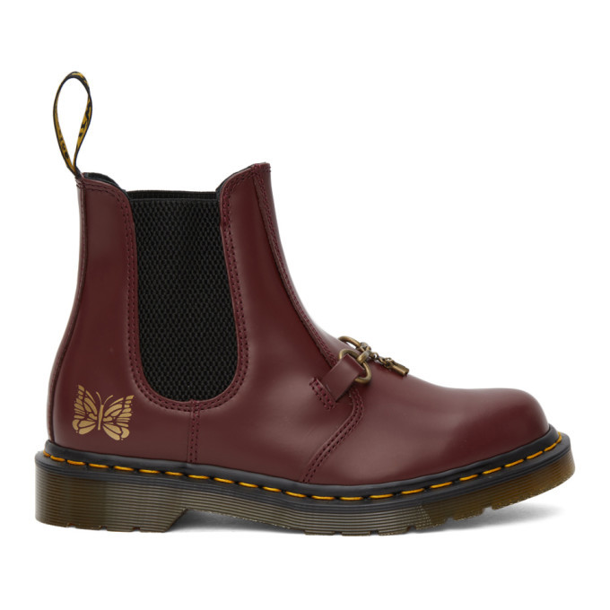 Photo: Needles Burgundy Dr. Martens Edition 2976 Snaffle Chelsea Boots