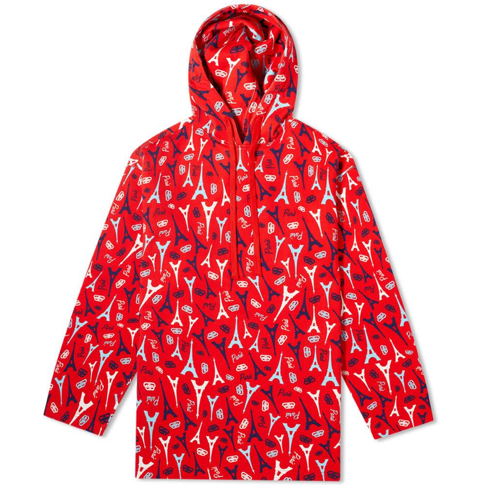 Photo: Balenciaga Oversize Paris BB Logo Repeat Print Popover Hoody