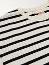KAPITAL - Printed Striped Cotton-Jersey T-Shirt - Neutrals