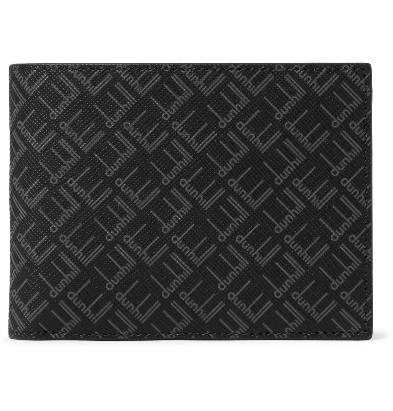 Dunhill - Logo-Print Coated-Canvas Billfold Wallet - Black