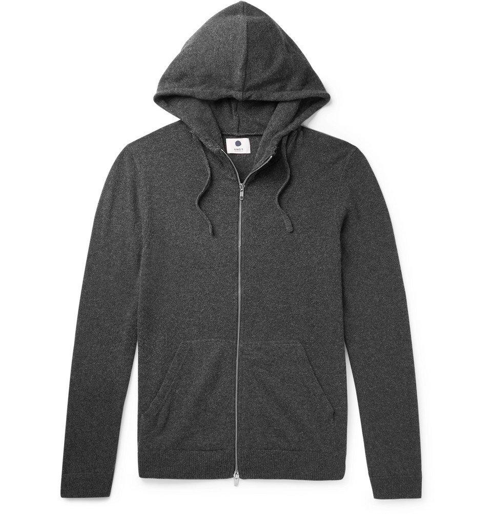 Photo: NN07 - Wool-Blend Zip-Up Hoodie - Men - Charcoal