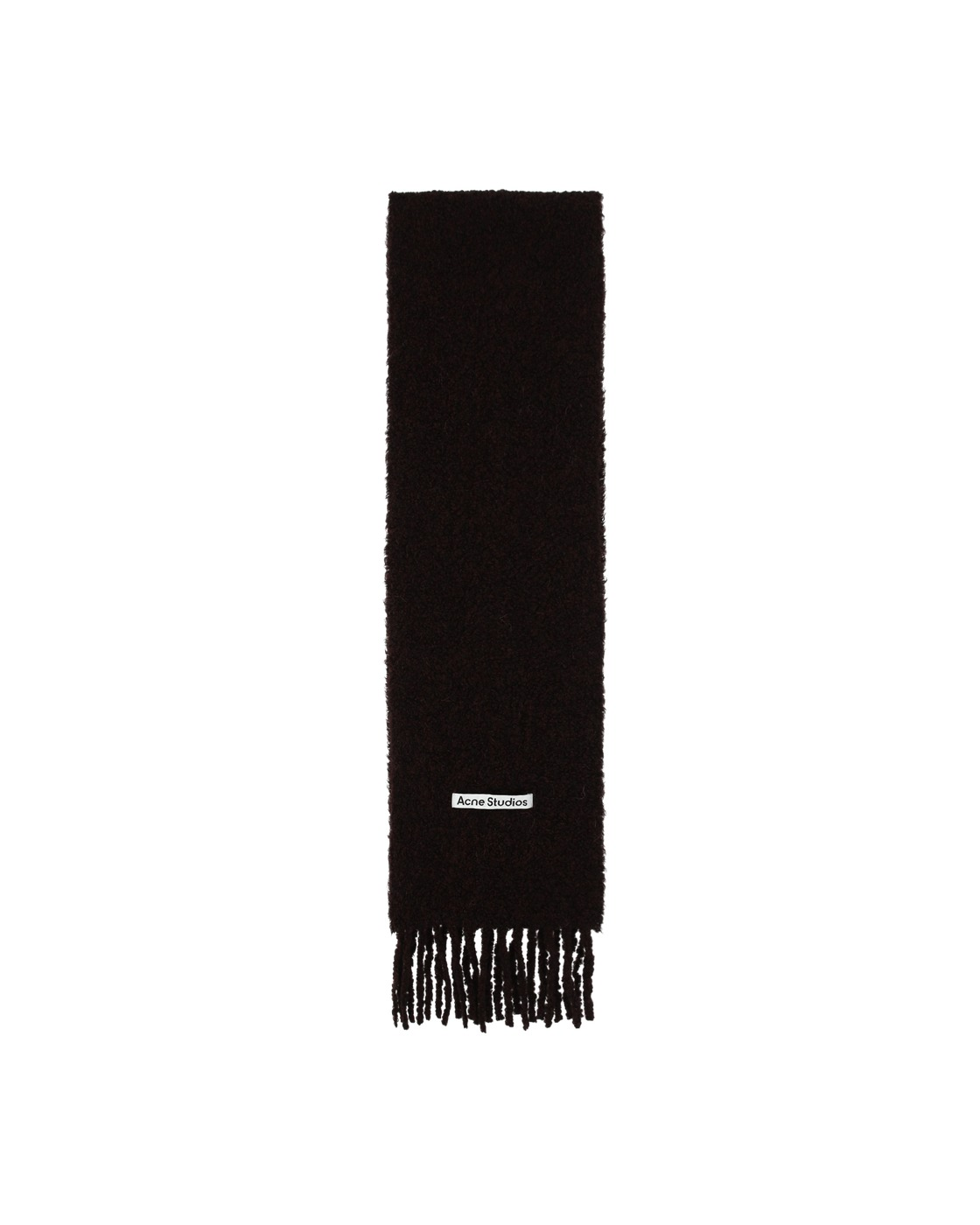 Photo: Acne Studios Large Boucle Scarf Chocolate Brown