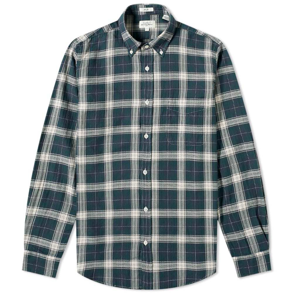 Photo: Hartford Side Button Down Plaid Shirt