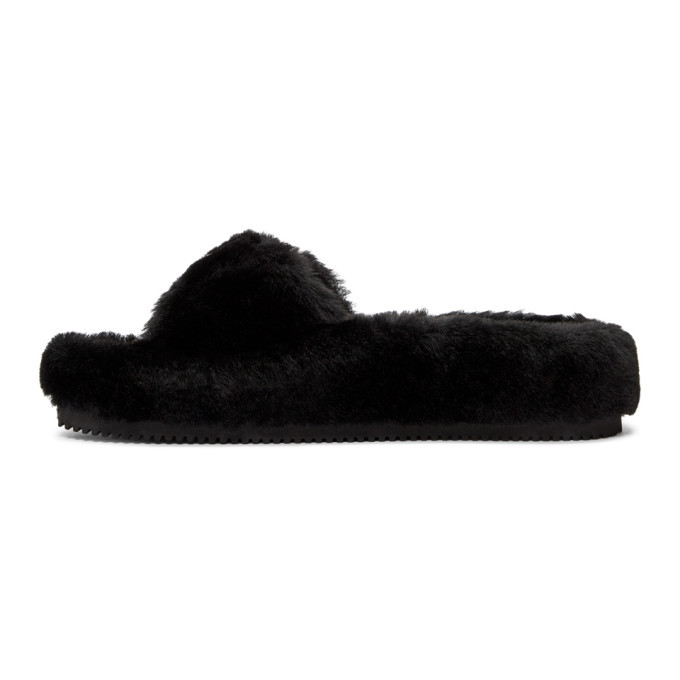 Alexander Wang Black Bee Shearling Slippers discount 2014 newest clearance shop offer free shipping many kinds of discount best wholesale v2uK9q