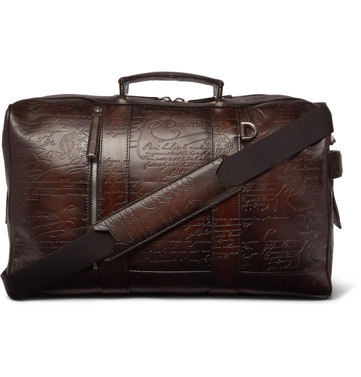 Photo: Berluti - Scritto Leather Holdall - Brown