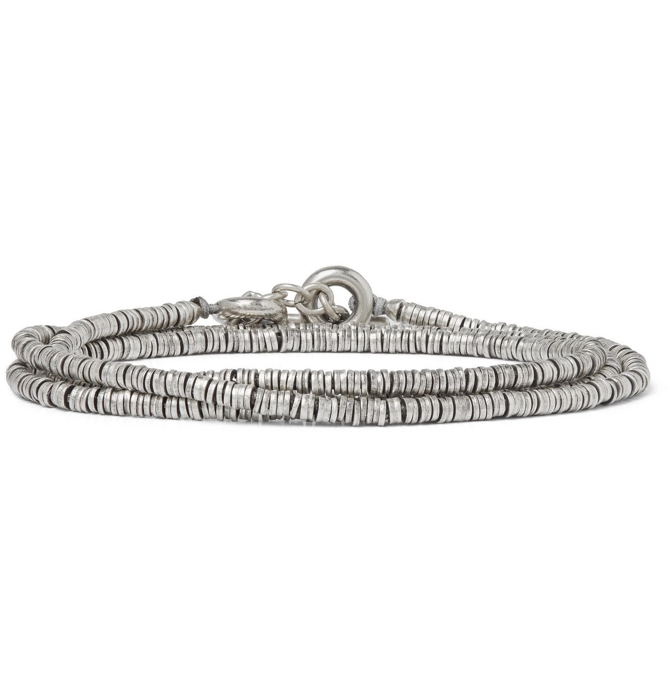 Photo: M.Cohen - Burnished Sterling Silver Wrap Bracelet - Silver
