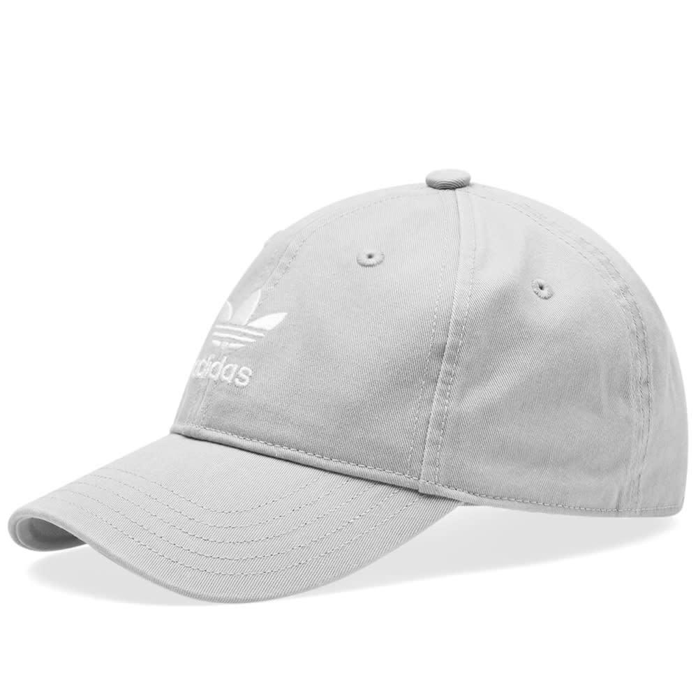 Adidas Washed Trefoil Cap Grey & White