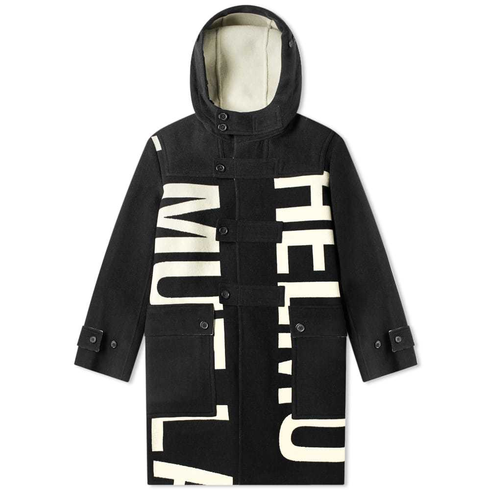 Photo: Helmut Lang Logo Duffel Coat Black