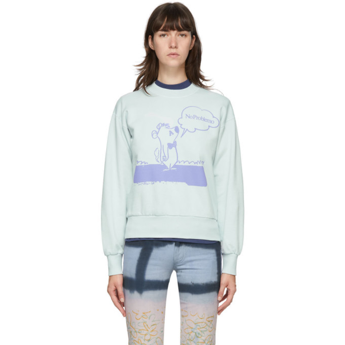 Photo: Aries Blue Stoner Bear Sweatshirt