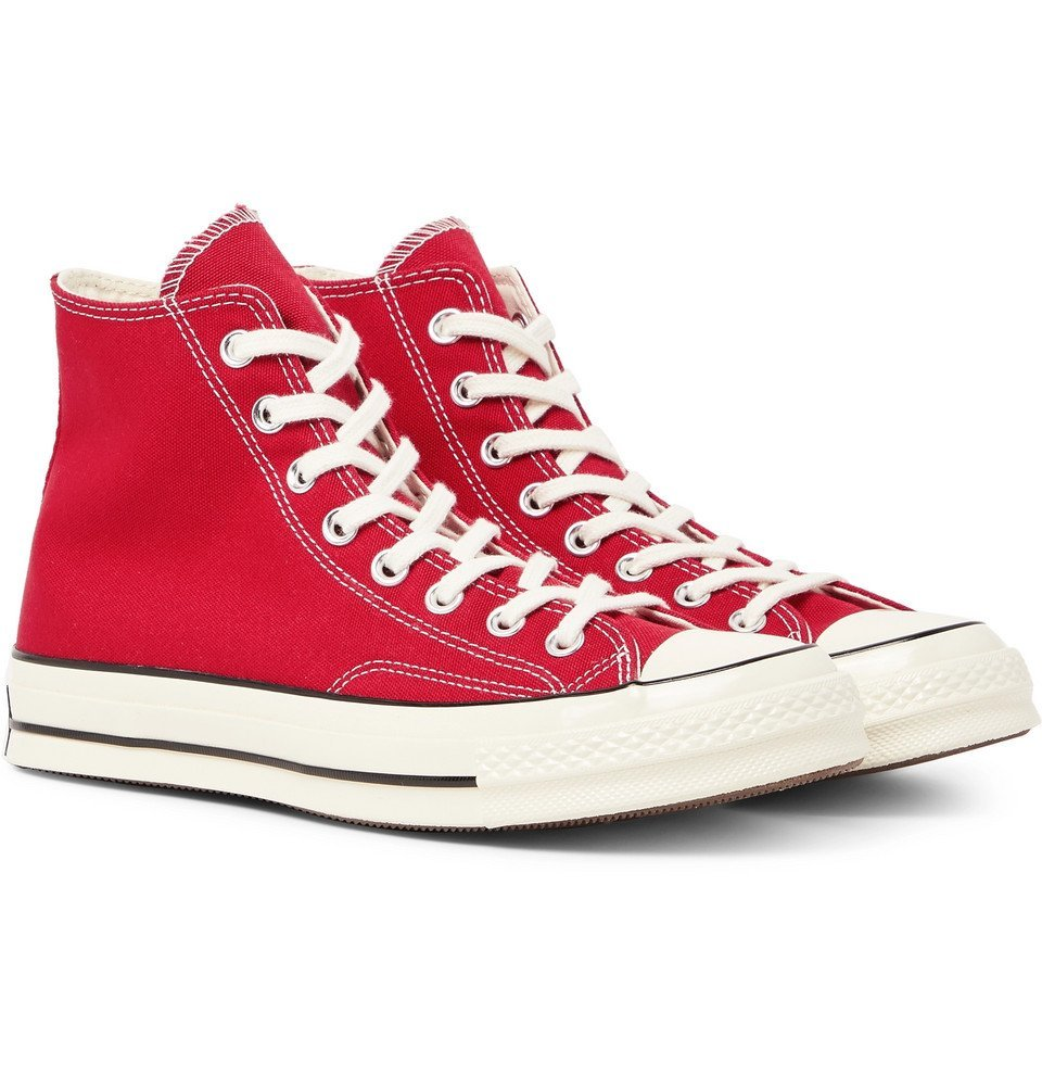 Photo: Converse - Chuck 70 Canvas High-Top Sneakers - Red