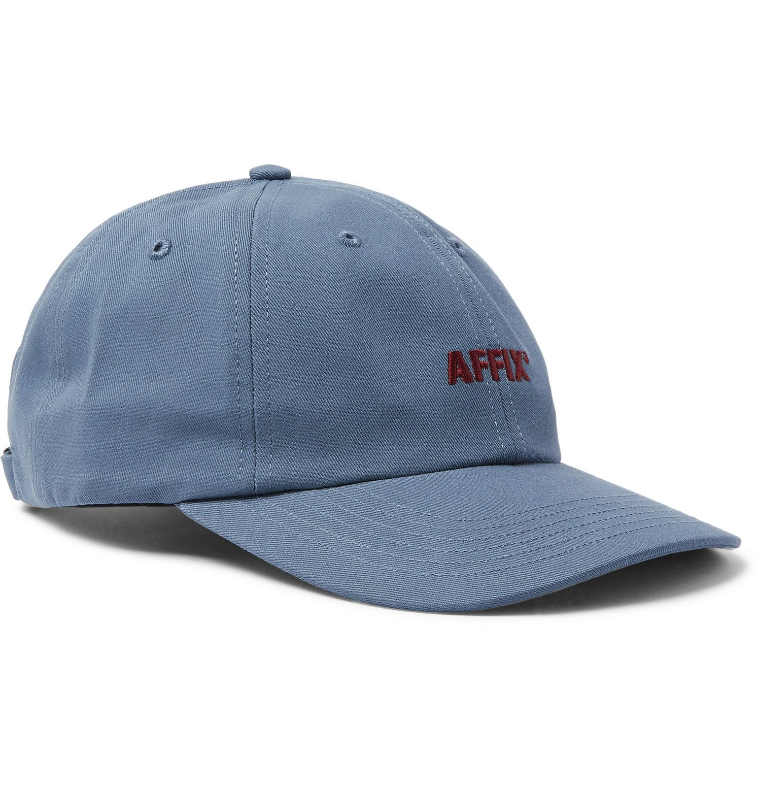 Photo: AFFIX - Logo-Embroidered Cotton-Twill Baseball Cap - Blue