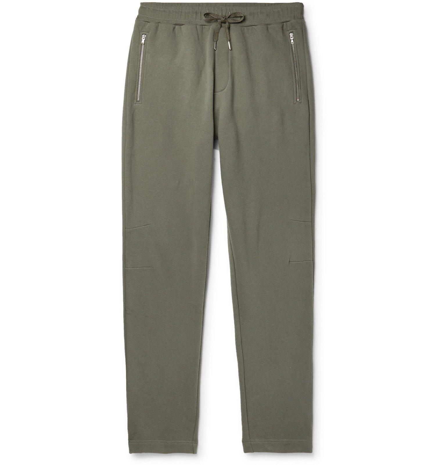 Photo: Sunspel - Slim-Fit Fleece-Back Cotton and Cashmere-Blend Jersey Sweatpants - Green