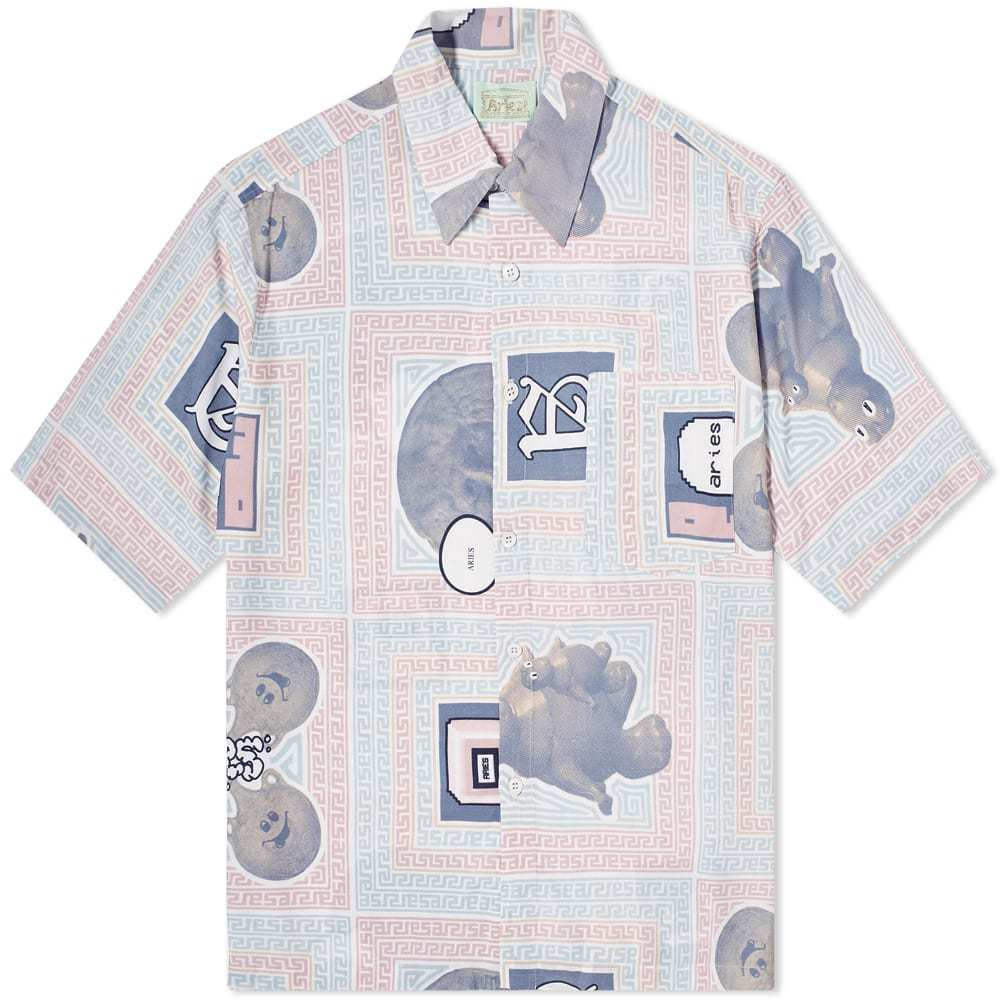 Photo: Aries Scarf Print Hawaiian Shirt