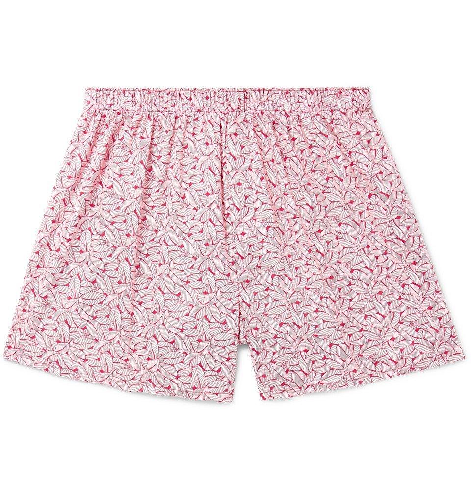 Sunspel - Liberty Printed Cotton Boxer Shorts - Men - Pink