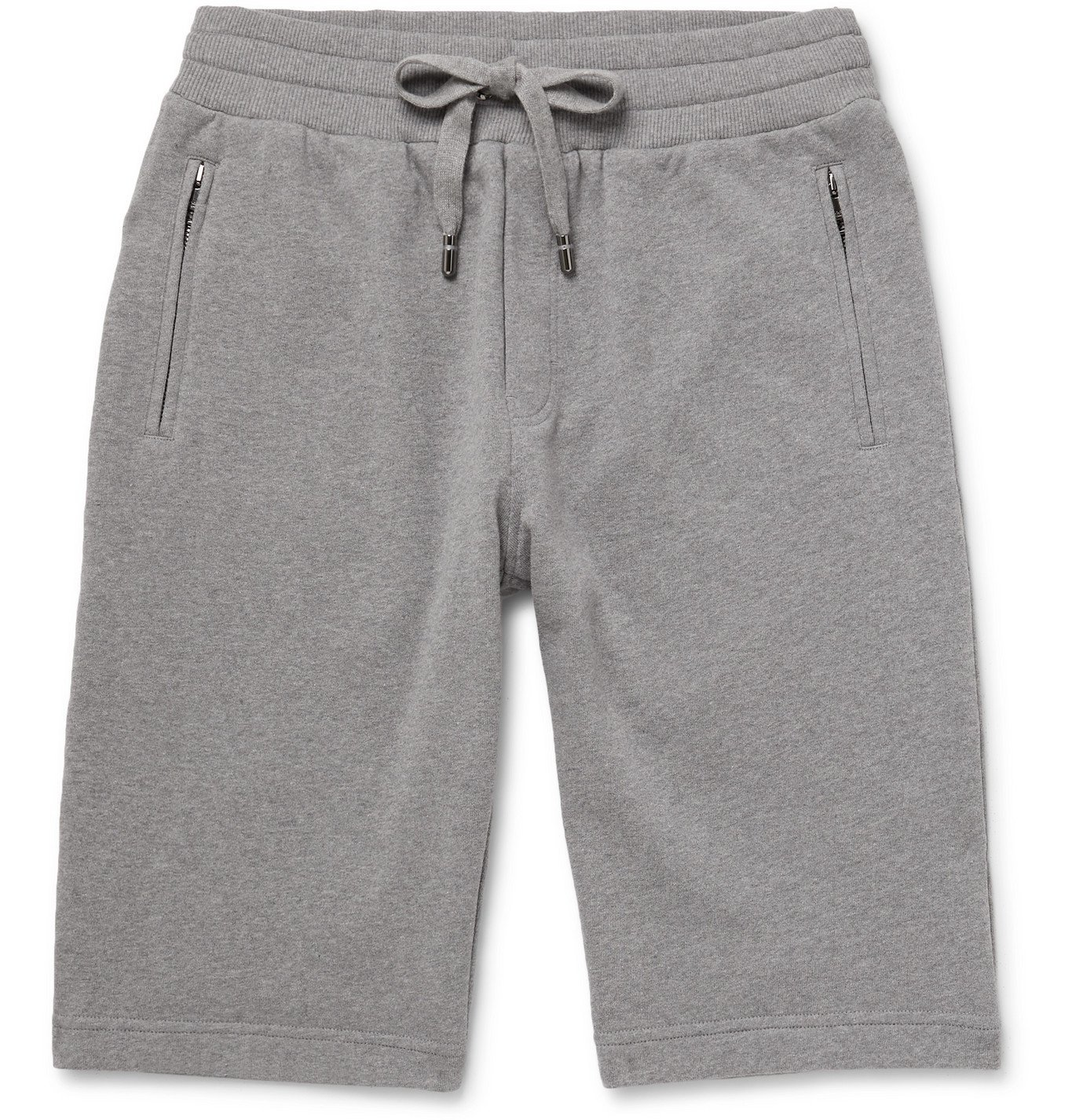 Photo: Dolce & Gabbana - Cotton-Blend Jersey Drawstring Shorts - Gray
