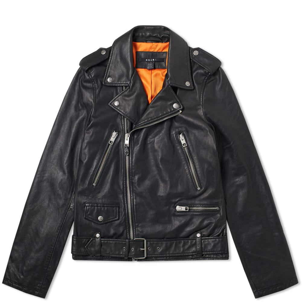 Photo: Ksubi Loathing Leather Biker Jacket