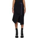 Sacai Navy Wool Skirt