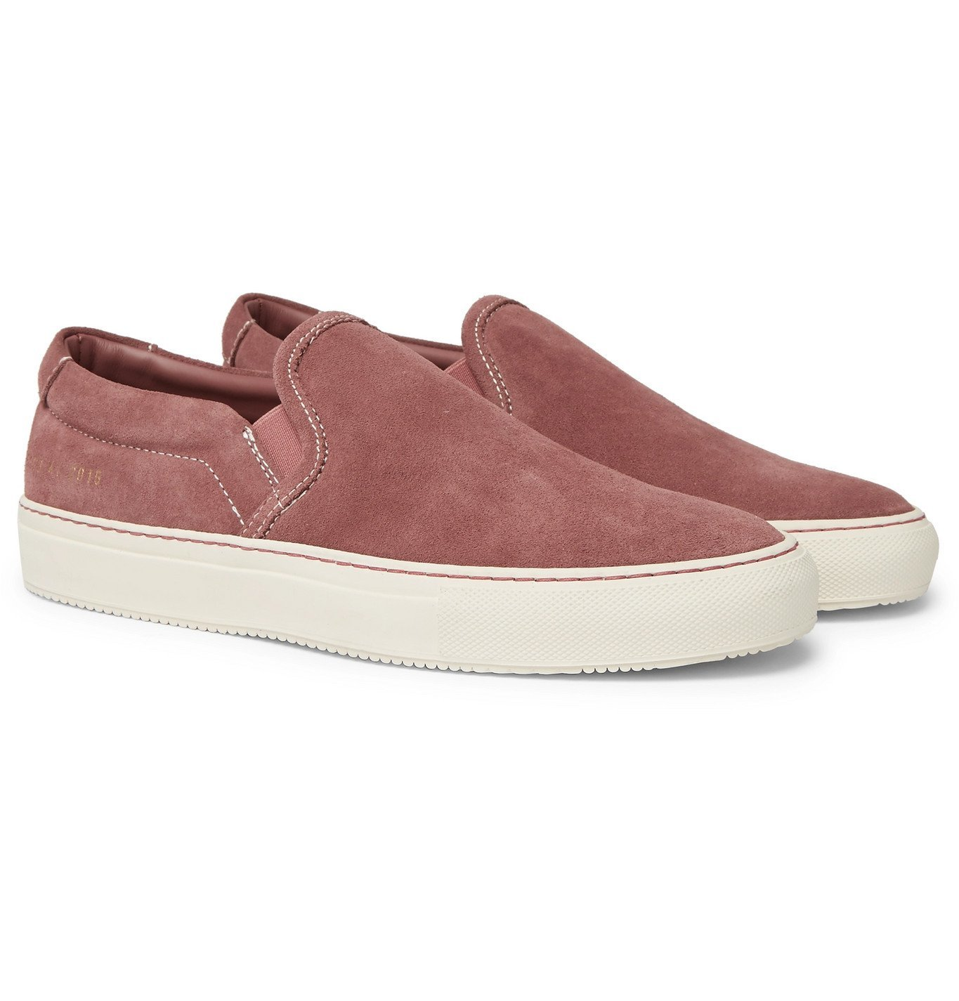 Photo: Common Projects - Suede Slip-On Sneakers - Pink