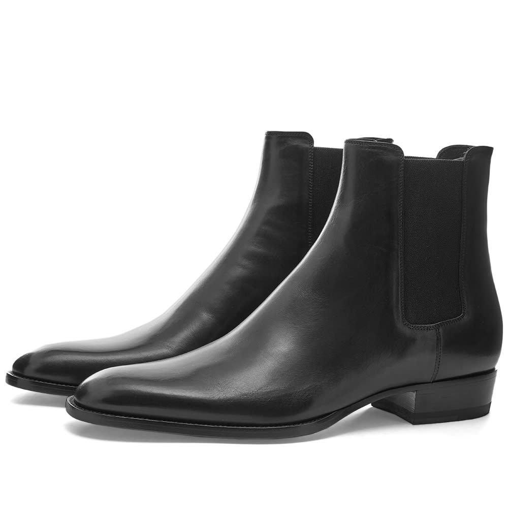 Photo: Saint Laurent Wyatt 30mm Leather Chelsea Boot