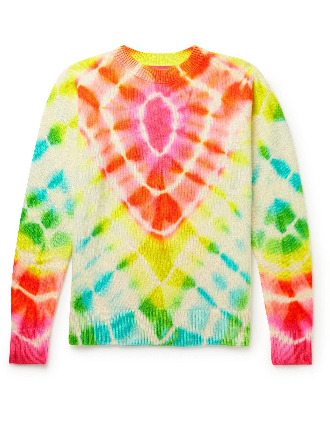 Photo: The Elder Statesman - Burst Tie-Dyed Cashmere Sweater - Multi