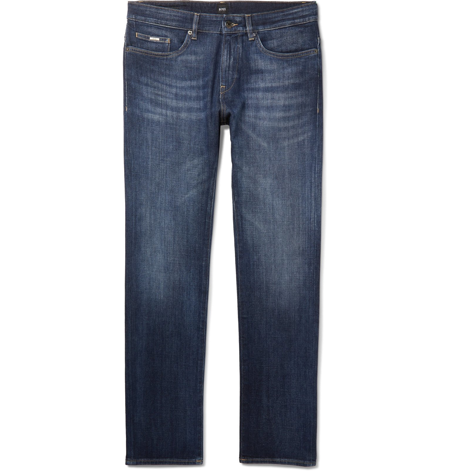 Photo: Hugo Boss - Delaware Slim-Fit Stretch-Denim Jeans - Blue