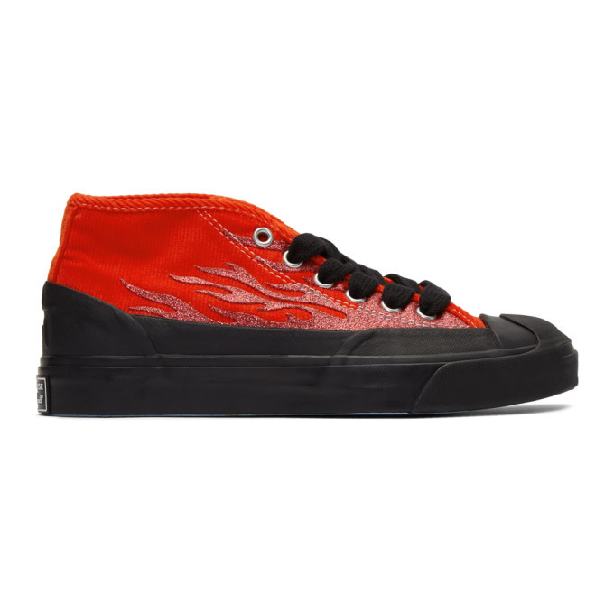 Photo: Converse Red A$AP Nast Edition Jack Purcell Chukka Sneakers