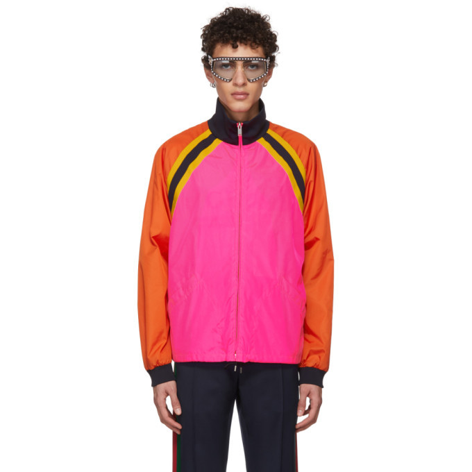 Photo: Gucci Pink Colorblock Windbreaker Jacket