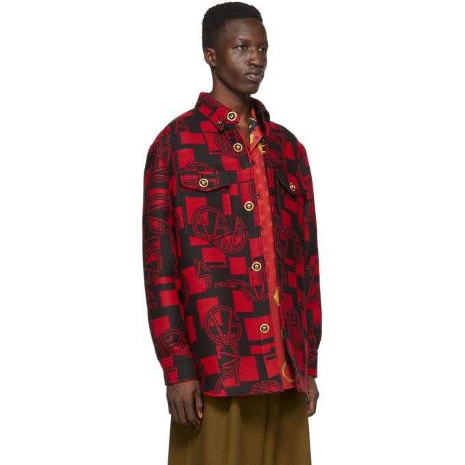 Versace Red GV Shirt Jacket
