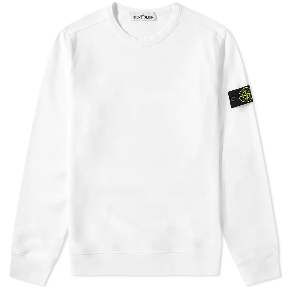 Photo: Stone Island Garment Dyed Crew Sweat White