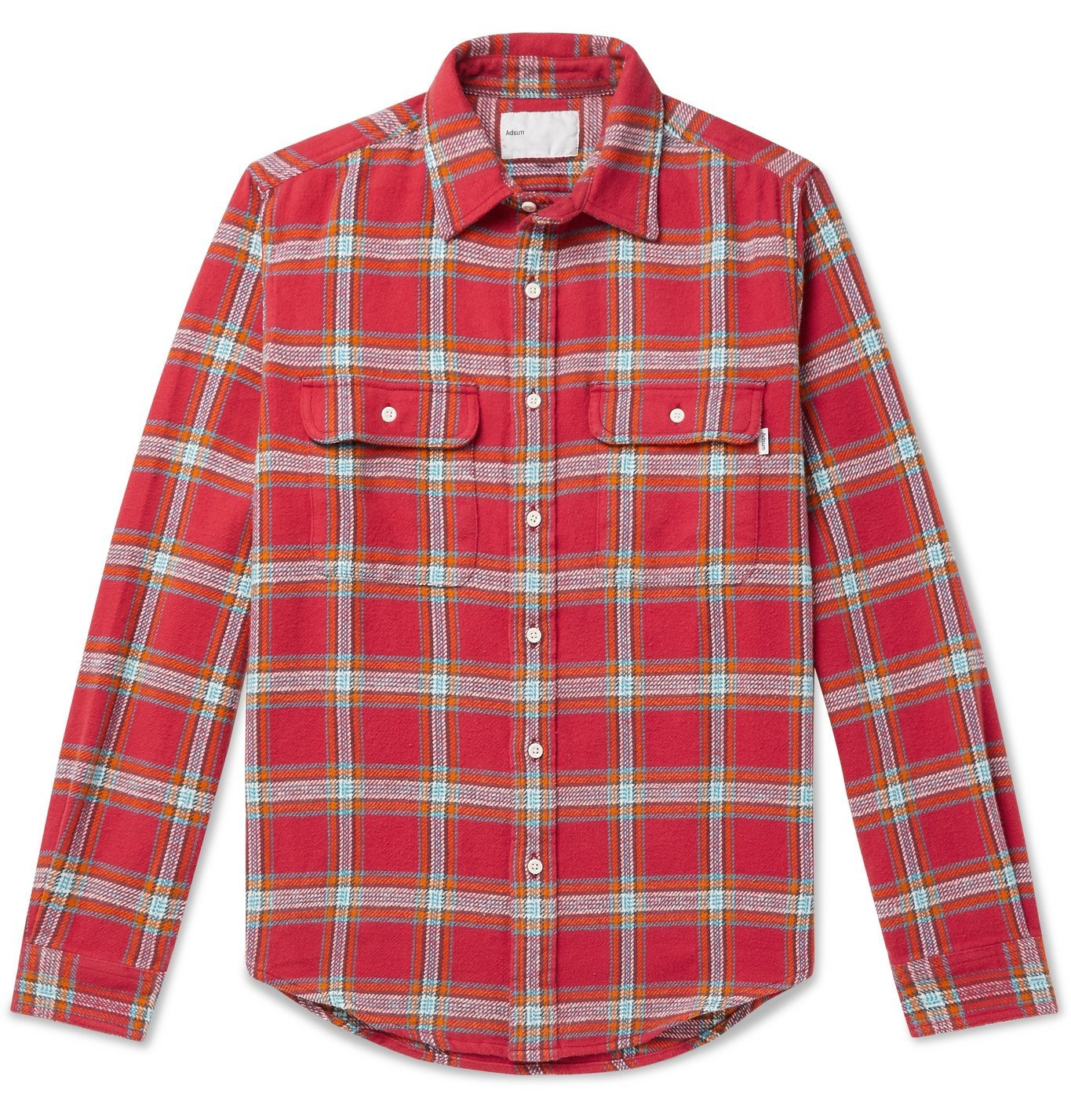 Photo: Adsum - Checked Cotton-Flannel Shirt - Red
