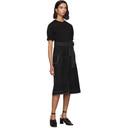 3.1 Phillip Lim Black Topstitch T-Shirt Dress