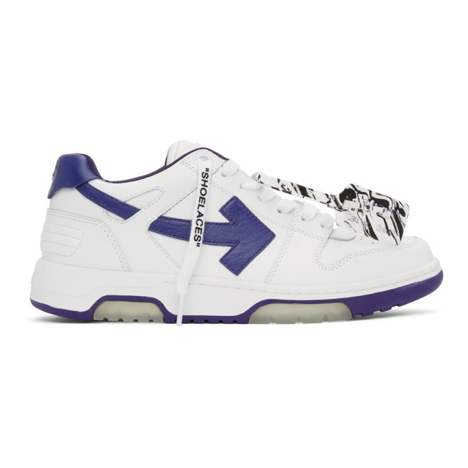 Photo: Off-White White and Purple Out Of Office Sneakers