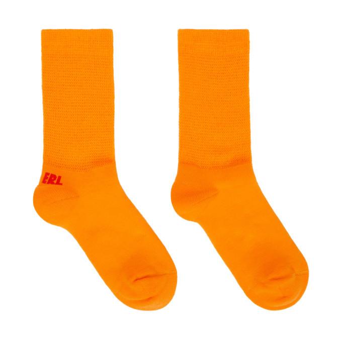 Photo: ERL Orange and Red Logo Socks