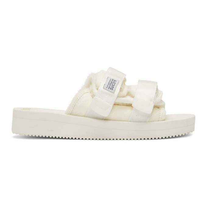 2952e091c906 Suicoke White Calf-Hair Moto-M Sandals Suicoke