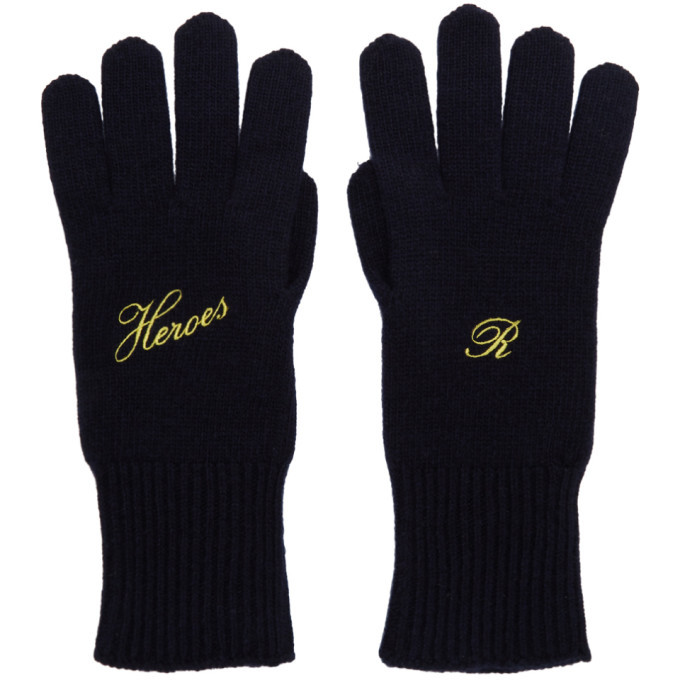 Photo: Raf Simons Navy Cashmere Heroes Gloves