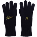 Raf Simons Navy Cashmere Heroes Gloves